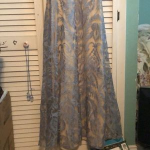 jcpenney Dresses - Blue-nude prom dress